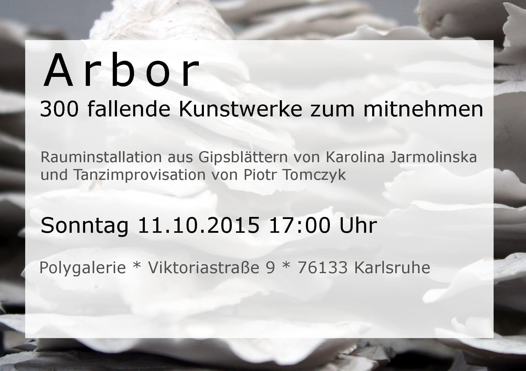 Einladung für die Ausstellung in der Poly Produzentengalerie in Karlsruhe